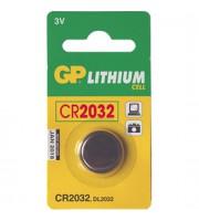 Батарейка CR2032 GP, 3V, литий