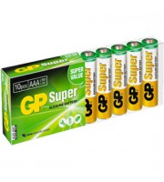 Батарейка AAA/LR03/24A GP Super, алкалин., 10шт.