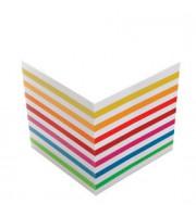 Блок для записей 90х90х90мм, цветной