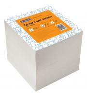 Блок для записи на склейке OfficeSpace, 9*9*9см, белый, белизна 70-80%