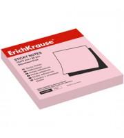 Листки с клейкой полосой 75х75мм ERICH KRAUSE, 100л, розовый