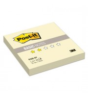 Листки с клейкой полосой 76х76мм 3M Post-it Basic R300-BY 100л, Z-сложение, желтый