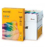 Бумага Maestro Color intensive А4, 160г/м2, SY40-солнечно-желтый, 250л