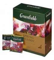 Чай черный с чабрецом GREENFIELD Spring Melody, 100 пак.