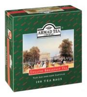 Чай AHMAD English Breakfast черный, ярлычок, 100пак.