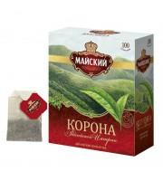 Чай Майский Корона Российской Империи черный 100 пакетиков