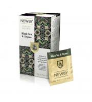 Чай Newby Black Tea & Thyme черный с чабрецом 25 пакетиков