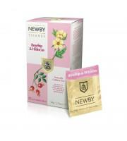 Чай Newby травяной шиповник и гибискус 25 пакетиков