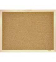 Доска объявлений, пробка, 90х120см, деревянный профиль