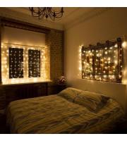 Гирлянда светодиодная Neon-Night Дождь бахрома теплый белый 96 светодиодов (1.5x1.5 м)
