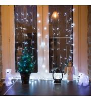 Гирлянда светодиодная Neon-Night Дождь бахрома белая 96 светодиодов (1.5x1.5 м)