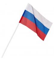 Флаг РФ с флагштоком 12х18 см