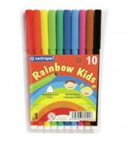 """Фломастеры Centropen """"Rainbow Kids"""", 10цв., трехгранные, смываемые, ПВХ"""