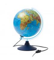 Глобус физико-политический Globen, 25см, с подсветкой на круглой подставке