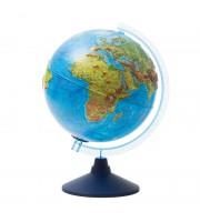 Глобус физико-политич. рельеф. Globen, 25см, интерактивный, с подсв. от батареек на круг. подставке