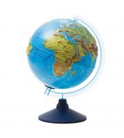 Глобус физико-политич. рельеф. Globen, 32см, интерактивный, с подсв. от батареек на круг. подставке