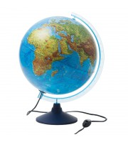 Глобус физико-политический Globen, 32см, с подсветкой на круглой подставке