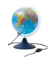 Глобус политический Globen, 21см, с подсветкой на круглой подставке