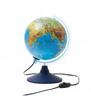 Глобус физико-политический Globen, 21см, с подсветкой на круглой подставке
