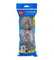 Губки для посуды OfficeClean, металлические, спиральные, 3шт., 6*5см (20г)