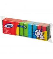 Губки для мытья посуды Luscan Мини поролоновые 80x50x26 мм 10 штук в упаковке