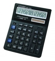 Калькулятор настольный 16 разрядов CITIZEN SDC-435, 170х178х40мм, черный