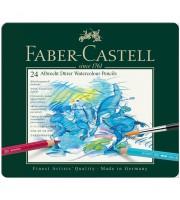 """Карандаши акварельные художественные Faber-Castell """"Albrecht Dürer"""", 24цв, метал. коробка"""