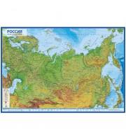 """Карта """"Россия"""" физическая Globen, 1:7,5млн., 1160*800мм, интерактивная, с ламинацией, европодвес"""