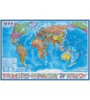"""Карта """"Мир"""" политическая Globen, 1:55млн., 590*400мм, интерактивная, капсульная ламинация"""