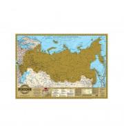 Настенная карта России скретч 1:14.5 млн