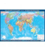 Настенная политическая карта мира 1:22 млн (1540x1050 мм)