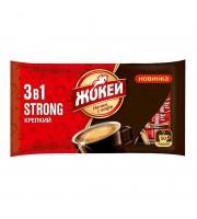Кофе порционный Жокей 3 в 1 Крепкий 50 пакетиков по 12 г