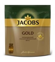 Кофе растворимый Jacobs Gold 500 г (пакет)