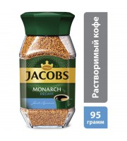 Кофе растворимый Jacobs Monarch Decaf 95 г (стекло)