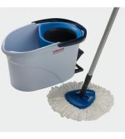 Комплект для уборки Vileda УльтраСпин Мини голубой (ведро с отжимом, швабра с телескопической ручкой)