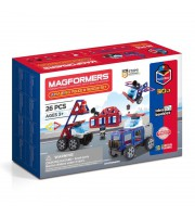 Конструктор магнит MAGFORMERS 717001 Amazing Police & Rescue Set