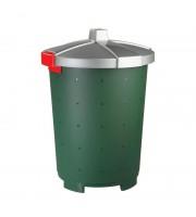 Бак 45л пластик, зеленый для пищ./непищ. прод.крышка-защелки