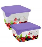 Набор контейнеров для продуктов Браво квадрат 0,45л+0,75л GR1071ЯГД-ЧМ