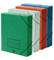 Короб архивный 75мм, резинка, картон, ассорти