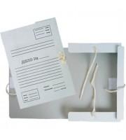 Папка с завязками 40мм, 4 завязки, картон, пустографка, белый