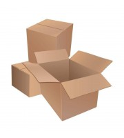 Короб картонный 380x304x285 мм бурый гофрокартон Т-23 профиль B (10 штук в упаковке)
