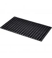 Коврик напольный резиновый 500x800х16 мм черный