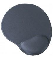 Коврик для мыши, подушка с гелев.наполнителем, BURO, черный/серый