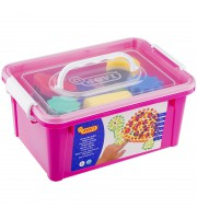 Краски пальчиковые JOVI, 06 цветов, 750г, с аксессуарами, пластиковый контейнер