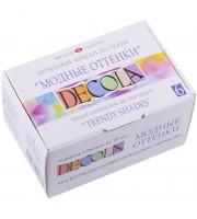 """Краски по ткани Decola """"Модные оттенки"""", 6 цветов, 20мл, картон"""