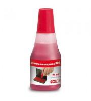 Краска штемпельная Colop 801 красная на водно-глицериновой основе 25 мл