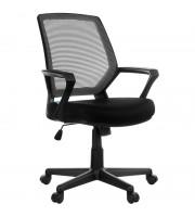 """Кресло оператора Helmi HL-M02 """"Step"""", ткань, спинка сетка черная/сиденье TW черная, механизм качания"""