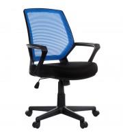 """Кресло оператора Helmi HL-M02 """"Step"""", ткань, спинка сетка синяя/сиденье TW черная, механизм качания"""