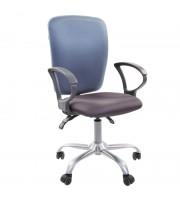 Кресло оператора Chairman 9801 CH, ткань, сиденье серое/спинка голубая, механизм качания