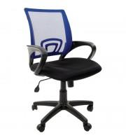 Кресло оператора Chairman 696 PL, спинка ткань-сетка синяя/сиденье TW черная, механизм качания